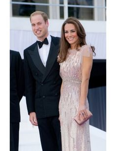 The Duchess chose Jenny Packham again—this time, an all-over beaded column—for last June's ARK gala.