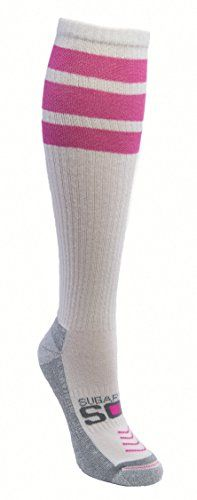 Sugar Free Sox 33103 Womens Athletic Compression with Tube Striping Socks Pink -- Read more reviews of the product by visiting the link on the image.
