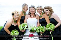 Green bouquets by A Fantasy in Flowers in St. Augustine, Fla.  Photography: Christy Whitehead, www.JaxPhotographer.com