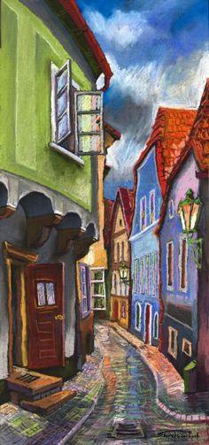 Cesky Krumlov Old Street 1