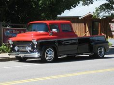 Visit The MACHINE Shop Café... ❤ Best of Trucks @ MACHINE ❤ (1955 LCF Crew Cab Dually Truck)
