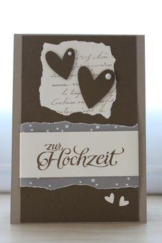Hallo zusammen ;-)  Zu später Stunde noch meine 2. Hochzeitskarte:        diesmal in Savanne-Wildleder und Vanille      na wie gefällt Euch...