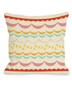 Take a look at this Lilly Scallops Throw Pillow by OneBellaCasa on #zulily today!