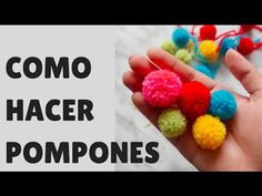 Making mini yarn pom poms in bulk / Cómo hacer mini pompones de lana en lote - YouTube