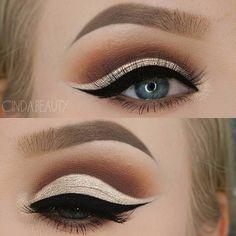 Beautiful Look @cinda.beauty BROWS: #DipBrow Pomade in 'Taupe' + Tinted Brow Gel in 'Granite' EYES: Modern Renaissance Palette Matte Eye Makeup, Eye Makeup Steps, Eye Makeup Art, Fall Makeup, Eyeshadow Makeup, Makeup Inspo, Makeup Inspiration, Eyeshadow Palette, Makeup Eyes