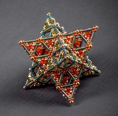 Martina Nagele | Encrusted Kepler Star, formed by two intersecting second generation Sierpinski tetrahedrons.