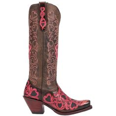 Cowgirl Boots with Hearts | COWGIRL STYLE BOOTS Embroidered Red ...