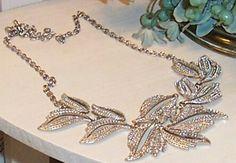 Auction  Silver Multi-Leaf Necklace and Silver Leaf Bracelet