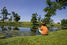 Fishing at Shaker Village of Pleasant Hill in Harrodsburg KY shakervillageky.org