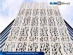 Image 6 of 76 from gallery of The 15 Most Popular Architectural Materials & Products of Perforated Facade Panel. Image Courtesy of ULMA Architectural Solutions Laser Cut Aluminum, Laser Cut Steel, Decorative Screen Panels, Innovation, Building An Addition, Architectural Materials, Laser Cut Panels, Exterior Cladding, Steel Panels