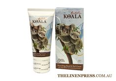 Koala Hand and Nail Cream 60ml  $9.95  Featuring Quandong Extract  Enriched with Shea Butter.  This rich non-greasy cream will assist in keeping hands beautifully soft and moisturised.  #handandnailcream #climatefriendly #ecofriendlygifts #ecofriendlyproducts #australianmade #australianflora #australianfauna #koala #quandong #gifts