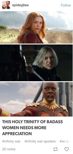 You know what's better than this holy trinity of badass ladies being in the same movie? This holy trinity of badass ladies fighting together, and not being pitted against each other at any point.