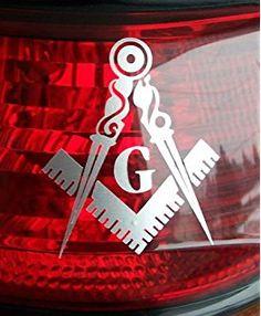 Masonic Freemason Decal Compass Square Decor Car Truck Emblem Sticker Placid