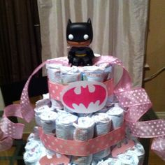 Batman baby shower diaper cake
