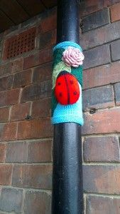 Yarnbombing in Derby
