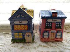 "$15....AVON ""Cottage Collection"" English Cottages Salt & Pepper Shakers VINTAGE NEW!!"