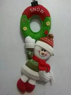 Pin by Monica Rey on Navidad Snowman Christmas Decorations, Christmas Snowman, Christmas Holidays, Christmas Crafts, Christmas Ornaments, Holiday Decor, Felt Banner, Elf, Decoupage