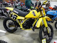OldMotoDude: 1983 Yamaha YZ490 on display at the 2016 Idaho Vin...