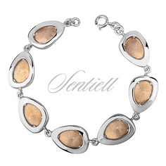 Srebrna bransoletka pr.925 pozłacana i diamentowana - Biżuteria srebrna dla każdego tania w sklepie internetowym Rejel