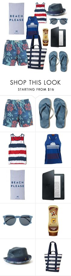 """Menswear Beach Essentials"" by menstyletoday on Polyvore featuring Drumohr, Hollister Co., Sundek, Milly, Amazon, Topman, Goorin, Helly Hansen, men's fashion and menswear"