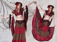 Ekstasis Skirt - Floor length red skirt