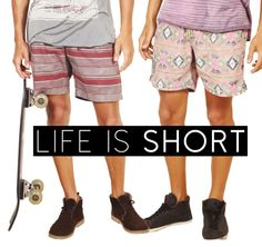 Life is short so live it up in a pair of our new shorts, in store now!