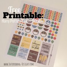 Free Printable: Harry Potter Planner Stickers