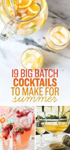 19 Big Batch Cocktails To Make For Summer
