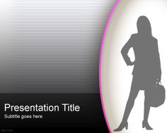 PowerPoint  Woman in Business Style Template is a free PPT background template that you can download for free