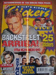 AARON CARTER BACKSTREET BOYS MAGAZINE + stickers Nick Carter