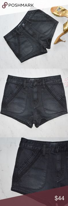 Free People Sweet Surrender High Rise Short Sz 25 This is a pair of Free People Sweet Surrender High Rise Short • Size: 25 • Color: Black • New With Tags • MSRP $88 • Denim high rise shorts • Slanted side pockets with eyelet trim • Back slip pockets • Button closure and zip fly • Made of 100% Cotton • Machine Wash • Free People Shorts