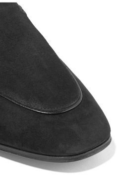 The Row - Adam Suede Loafers - Black - IT