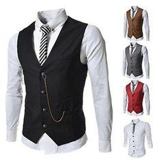 Men's Fashion Business Vest Casual Slim Vest - USD $ 24.49