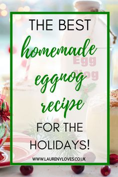 An easy and non-alcoholic eggnog recipe that the whole family can enjoy this Christmas! Read this and learn how to make delicious homemade eggnog. Non Alcoholic Eggnog Recipe, Homemade Eggnog, Easy Recipes, Healthy Recipes, Cheap Easy Meals, Cooking For One, Food To Make, Holiday, Christmas