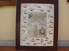 Nodi marinari antichi e moderni,rifiniti con materiali nobili e riciclati,inserti di carte nautiche antiche.