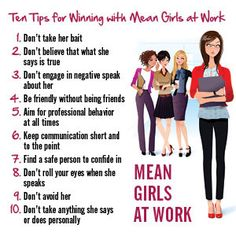 """""""Mean Girls at Work"""" is a great guide for #YAWorkingTeens and #YAHumanResources for Teens! A book full of tips on how to survive at work those who get under your skin."""