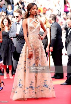 Jourdan Dunn attends 'The Killing Of A Sacred Deer' premiere during the 70th annual Cannes Film Festival at Palais des Festivals on May 22, 2017 in Cannes, France.