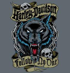 Read Harley-Davidson [illustrations]