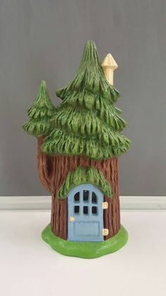 Ceramic Fairy House - Fairy Dwelling - Fairy Garden House - Ceramic House - Garden Ornament - Gnome