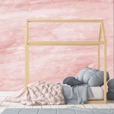 Indie Wallpaper offers an abstract watercolor look Peach Wallpaper, Home Wallpaper, Textured Wallpaper, Textured Walls, Wallpaper Samples, Big Girl Rooms, Project Nursery, Bedroom Wall