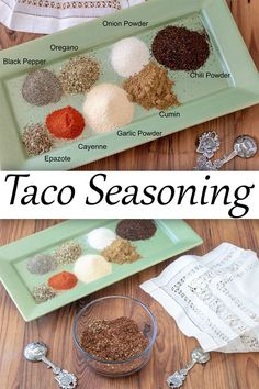 Making your own spice mixes is fun! This Easy Homemade Taco Seasoning takes all of 5 minutes and saves a ton of money!#TacoTuesday #spices #spicemix #taco #tacoseasoning #binkysculinarycarnival