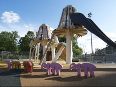 World's Coolest Playgrounds Give Kids a Taste of the Surreal | Mushrooms bloom out of the ground and act as monkey bar-like structures. Those little guys are ants marching along the playground.  Monstrum  | WIRED.com