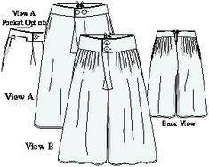 """Ytterbyxor av gammal segelduk (s.k. """"slops"""") bars över vanliga byxor som skydd mot smuts"""