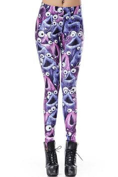 Fashion Monster Print Leggings - OASAP.com