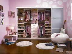 Cutest Girl's bedroom ever! Perfect for a Teenager, closets by California Closets
