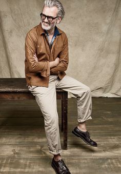J.Crew men's Wallace & Barnes canvas chore coat, Wallace & Barnes indigo polo shirt and Wallace & Barnes double-pleated relaxed-fit military chino. To pre-order, call 800 261 7422 or email verypersonalstylist@jcrew.com.