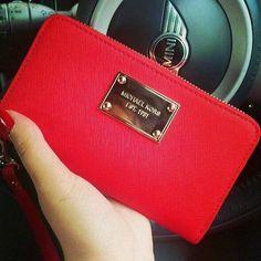 Beautiful MK red wallet
