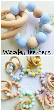 Silicon teether toy Montessori toys. This easy teether in different pastel colors is great for little baby hands, and stimulates play. The ergonomic shape is ideal to eat and gum massage.Thus, your baby gets so much pleasure from the sensations, sounds and Visual treats. silicone beads are made of high quality 100% food grade silicone and are free from BPA, lead, cadmium, phthalates, PVC and LaTeX. aff