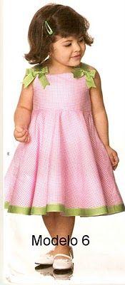 Feito a Mão por Juliana Melo: Ref: 127 - Molde de vestidos infantis