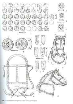 10-11th Century Austria. Magyar headgear studs, reconstructions etc.